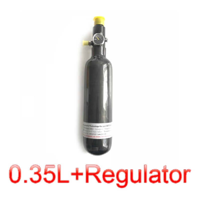 Acecare AC303561 0.35L GB PCP Air Compressed Gun/Air Rifle/Airforce Condor Paintball Tank Carbon Fiber Cylinder With Regulator