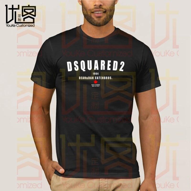 New DSQ2 T-shirt Men's Women's Summer 100% Cotton Team Tees Male Newest Top Popular Normal Tee Shirts