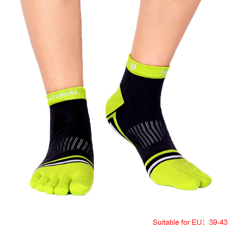 NEW 1Pair Sports Running Five Finger Toe Socks Soft Cotton Blend Socks For Men Women Casual Socks Size 39-43