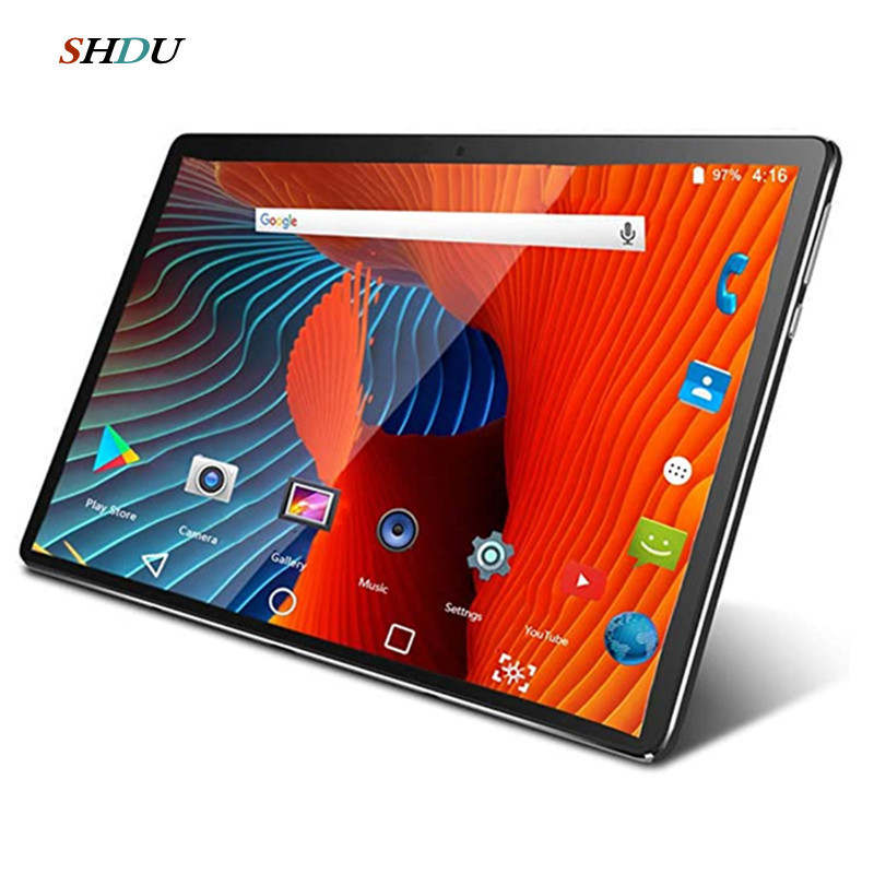 Novo tablet pc 10.1 polegada android 10.0 google play 3g 4g telefone tablet comprimidos wifi bluetooth gps vidro temperado 10 polegada tablet