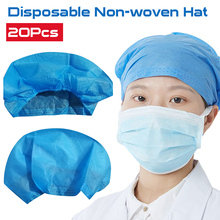 цена на 20 Pcs Disposable medical non-woven hat dust cap flat cap kitchen doctor cap food hood