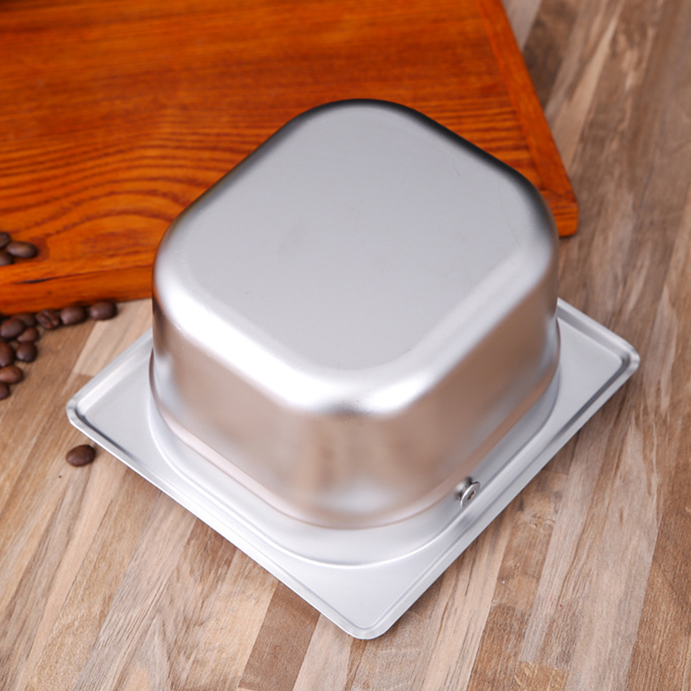 Container Tray Deep Design Stainless Steel Kitchen Tool Silver Coffee Knock Box