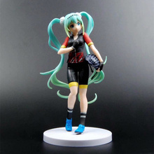 Anime Hatsune Miku Bicycle Clothing Ver PVC Action Figure Collectible Model doll toy 21cm anime hatsune miku v4x vocal project diva pvc action figure juguetes collectible model doll kids toys 20cm