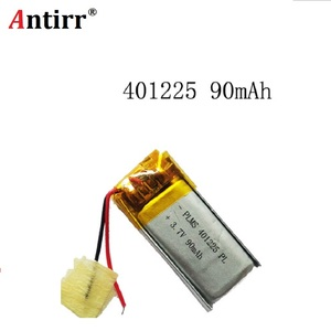 Free shipping 3.7V 90mAh 401225 Lithium Polymer LiPo Rechargeable Battery li ion For Mp3 PAD(China)