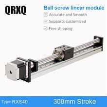 SFU 1610 Ball Screw 300 mm Linear Guide Module Motion Rail Actuator CNC Sliding Table Motorized XY Stage Robot Arm Kits