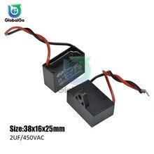 CBB61 игрушка конденсатор моторного двигателя, начиная с постоянной ёмкости, универсальный конденсатор переменного тока конденсатор вентилятора 450VAC 1 мкФ 1,2 мкФ 1,5 мкФ 2 мкФ 2,5 мкФ 3 мкФ 3,5 мкФ 4 мкФ 4,5 мкФ 6 мкФ