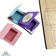 Caixa de molho de chocolate muyu corte morrer novos dados de corte de madeira do molde para scrapbooking