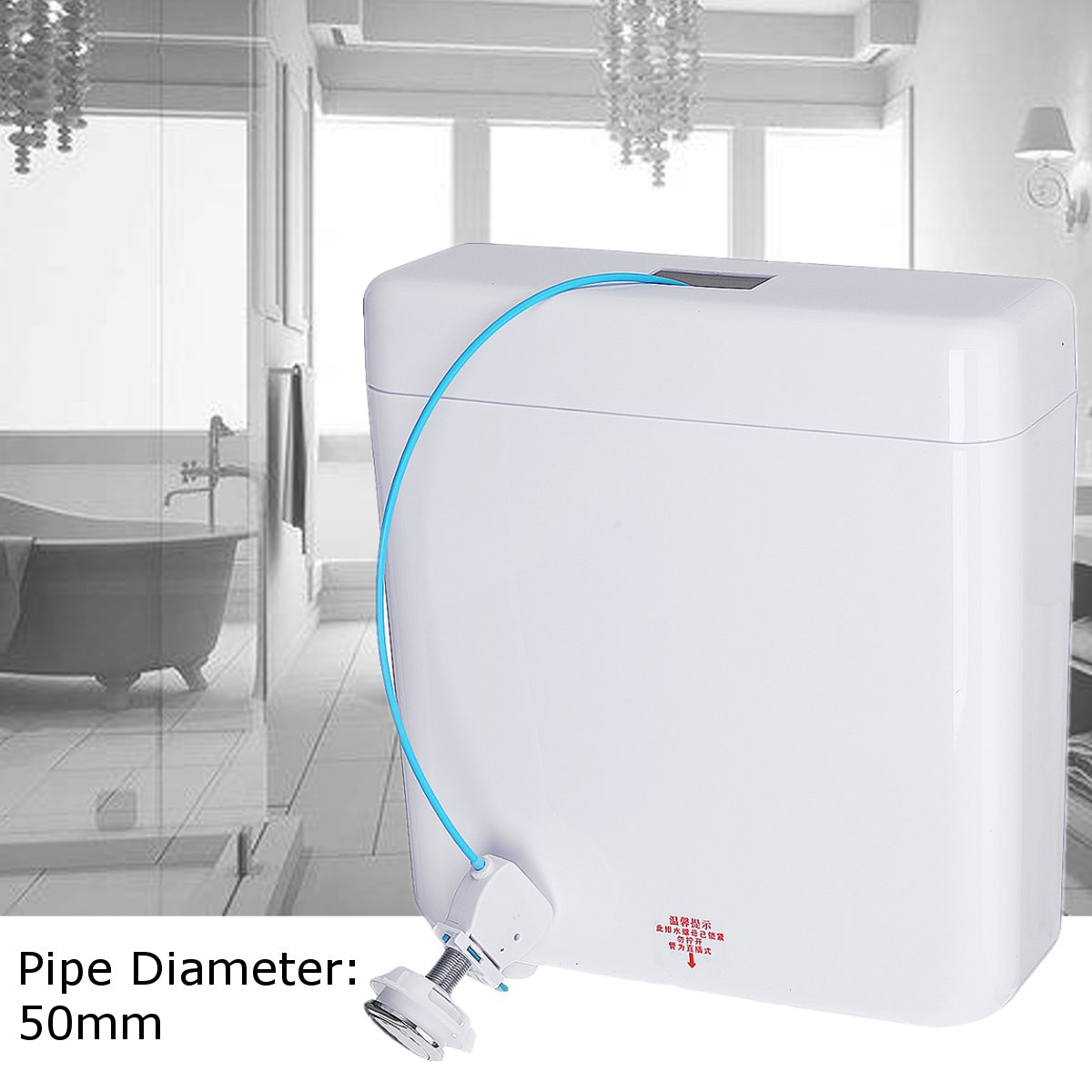 Dual Flush Back To Wall Manual Concealed Toilet Cistern Water Tank Bathroom Fixture Water Tank Toilet Parts Hotel Home