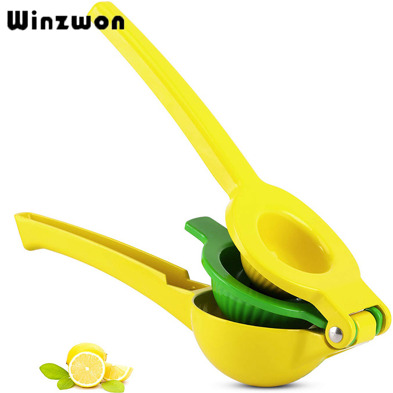 2 in 1 Metal Lemon Lime Squeezer Juice Clip Kitchen Utensils Gadgets Manual Citrus Press Juicer Kitchen Products Accessories|Squeezers & Reamers| |  - title=