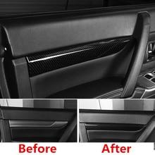 Fit For Mitsubishi PAJERO 2007 2018 2019 1 order 4 pieces Carbon fiber color Door internal cove