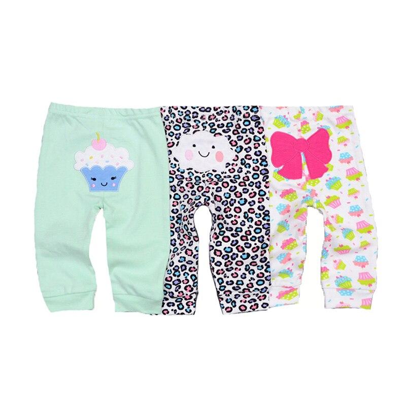 2019 3/4PCS/LOT Solid Baby Gril Pants 0-12M Newborn Baby Boy Pants Unisex Cotton Infant Solid Baby Pants Striped Cartoon