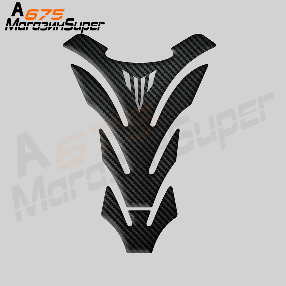 For Yamaha MT01 MT03 MT09 MT10 MT-09 Tank Sticker 3D Carbon Look Motorcycle Tank Pad Protector Decal Stickers Case