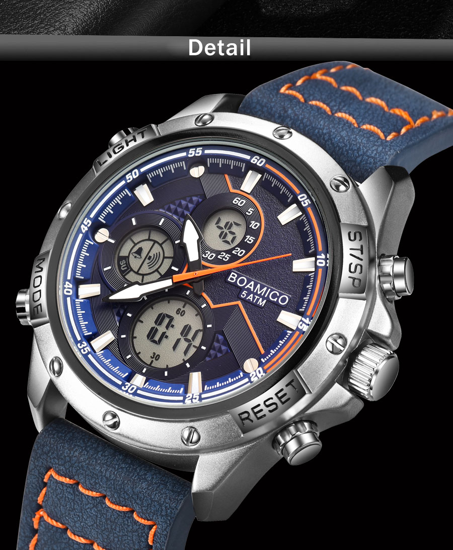 H0d016c95c1af4a5f921a85e2b4192578o BOAMIGO Fashion Mens Watches men Military Digital analog Quartz Chronograph sport Watch  Waterproof wristwatch relogio masculino