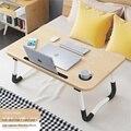 Простой складной стол для учебы  стол для ноутбука  стол  кровать с столом  маленький стол  ленивый студенческий общий компьютерный офисный ...