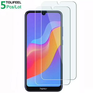Image 1 - 5Pcs Tempered Glass For Huawei Honor 8A Screen Protector 9H 2.5D Phone On Protective Glass For Huawei Honor 8A Glass