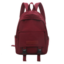 Women Backpack Solid Color Large Capacity School Bag for Teenage Girls Fashion Casual Ladies' Outdoor Travel Bag Mochilas Sac nucelle brand design women s fashion color blocking cover casual cow leather girls ladies backpack shoulders travel school bag