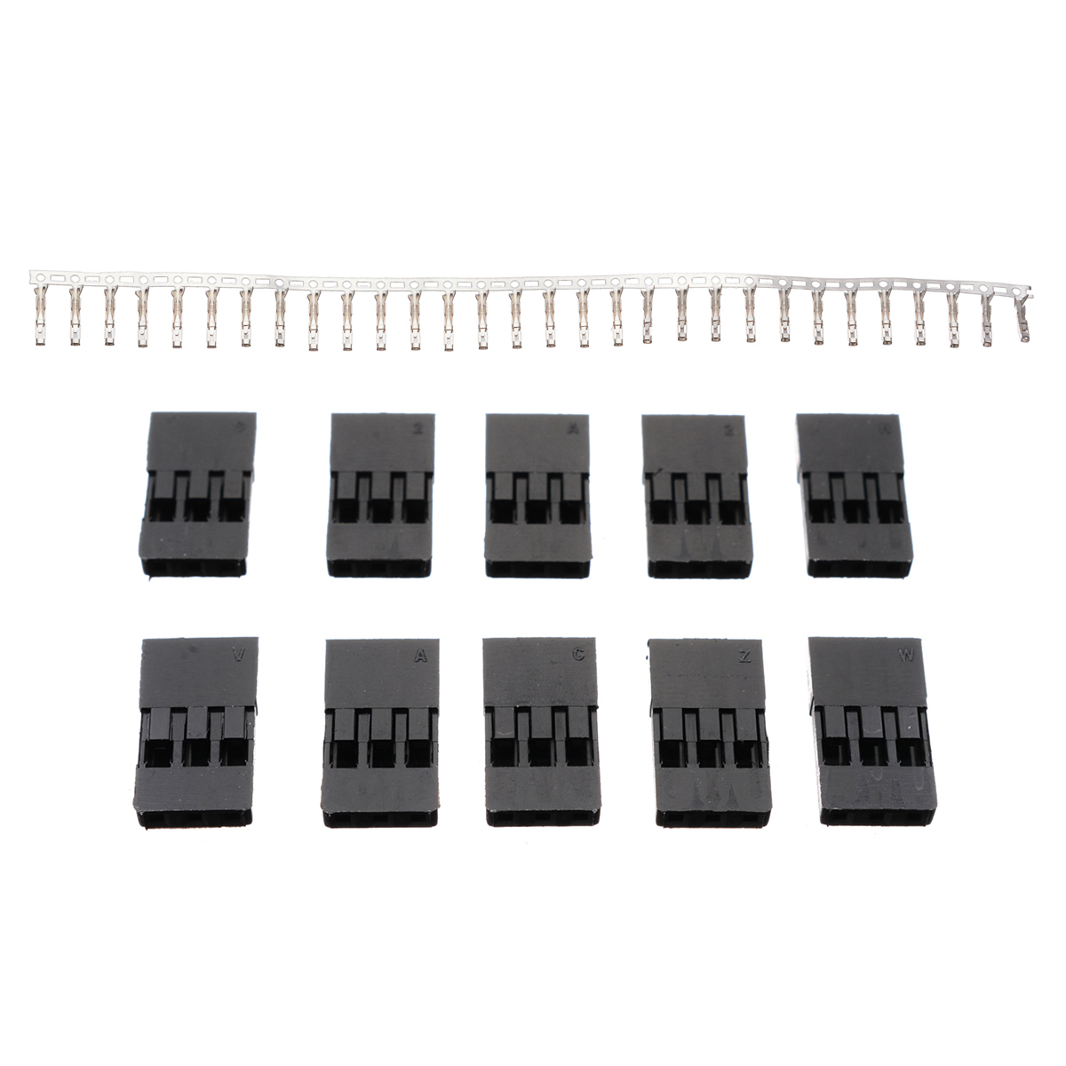 New 30pcs Male & Female Gold Plated Terminal With 10 Rudder Plug Buckle Connector For RC Car Model Servo Connector