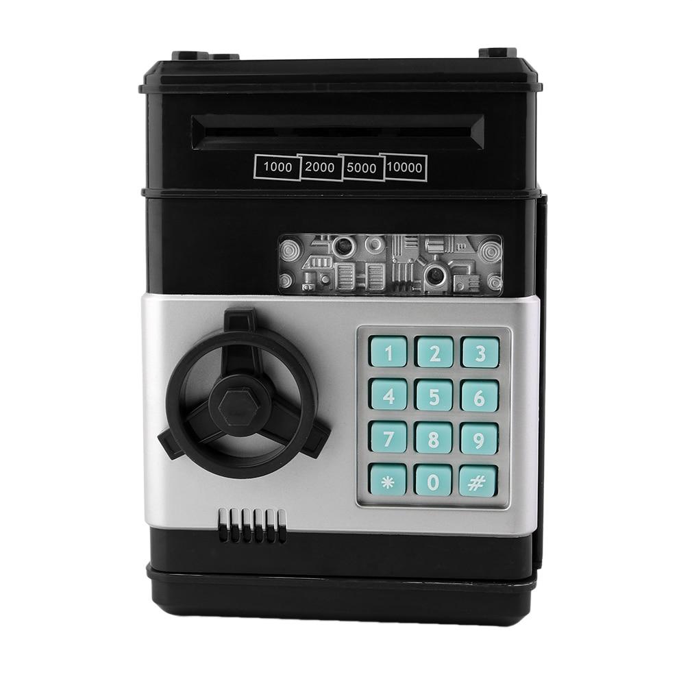Eworld Hot New Piggy Bank Mini ATM Money Box Safety Electronic Password Chewing Coin Cash Deposit Machine Gift For Children Kids