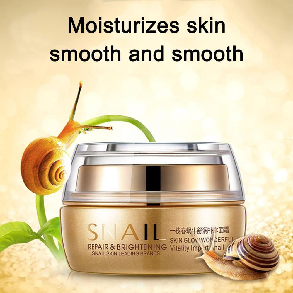50ml Snail Essence Moisturizing Whitening Anti Wrinkle Cream Skin Care Day Cream Face Cream Remove Age Spot Scar Pigment
