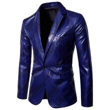 Fashion men solid color suit coat autumn casual single breasted slim fit Suit waterproof design mens Tops plus size