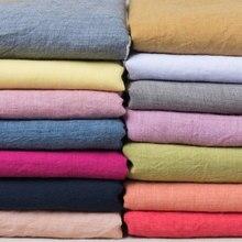 Tela fina de lino y algodón de Color sólido, 50x140cm, vestido de ropa hecho a mano, vestido de bambú Slub DIY, Material artesanal de fondo de costura