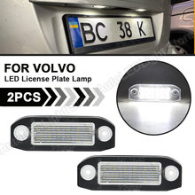 2Pcs LED Lizenz Nummer Platte Lichter Lampe 12V Weiß SMD Auto Styling Lampe Für Volvo S80 XC90 S40 v60 XC60 S60 V70 XC70 C70 V50