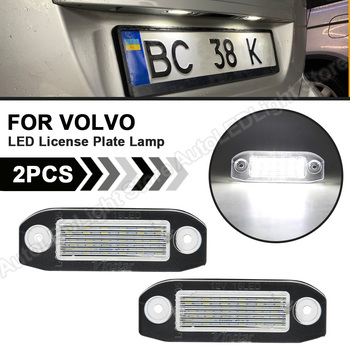 2Pcs LED License Number Plate Lights Lamp 12V White SMD Car Styling Lamp For Volvo S80 XC90 S40 V60 XC60 S60 V70 XC70 C70 V50 image