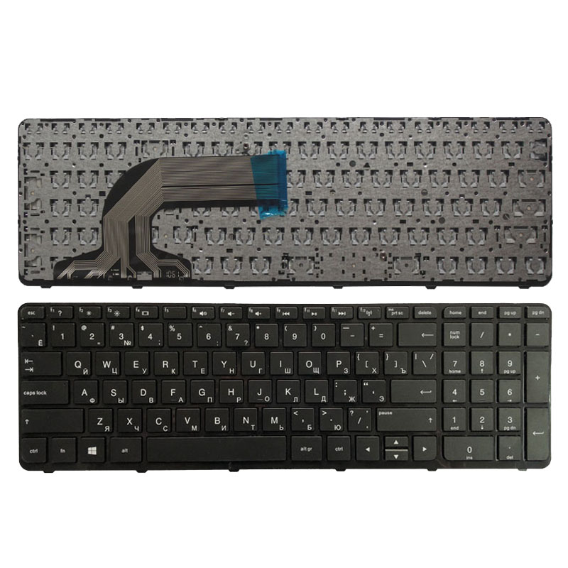 NEW Russian Keyboard For HP Pavilion 15-f000 15-g000 15-h000 15-r000 15-F 15-G 15-H PK1314D2A05 V140502AS1 RU Black With Fram