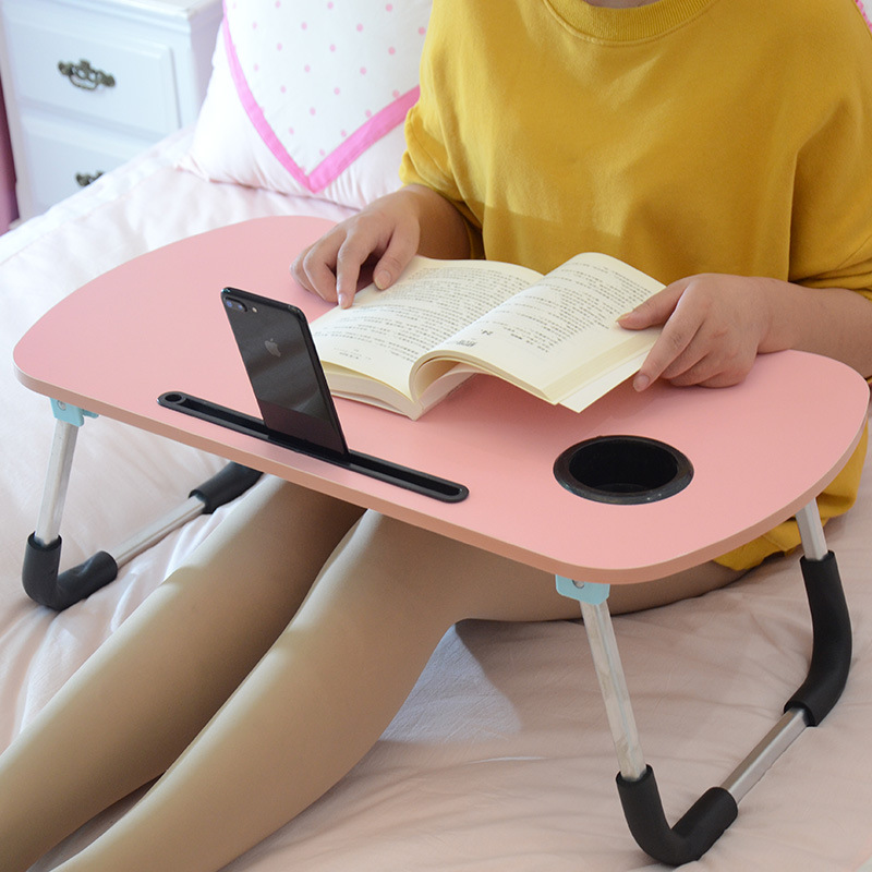 Arc Aluminum Alloy Square Tube Lazy Dormitory Bed Bedroom Multi-functional Folding Doing Homework Reading Learning Small Table