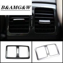 Car Styling Rear Air Conditioning Vent Decorative Frame Decoration For Mercedes Benz C Class W204 GLK X204 Air Outlet Stickers