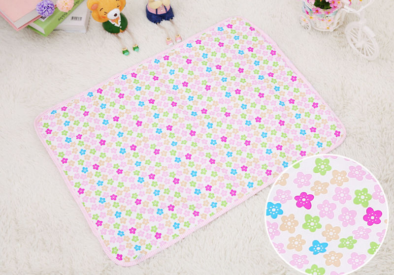 1PCS Waterproof Diaper Baby Underpad Cotton Mattress Changing Table Urine Mat Portable Baby Diaper Changing Crawling Mat