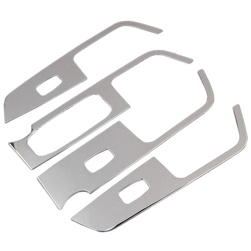 Car Door Armrest Window Switch Stickers Decoration Sequins Control Panel Cover LHD For Hyundai Creta IX25 2015 2016 Accessories