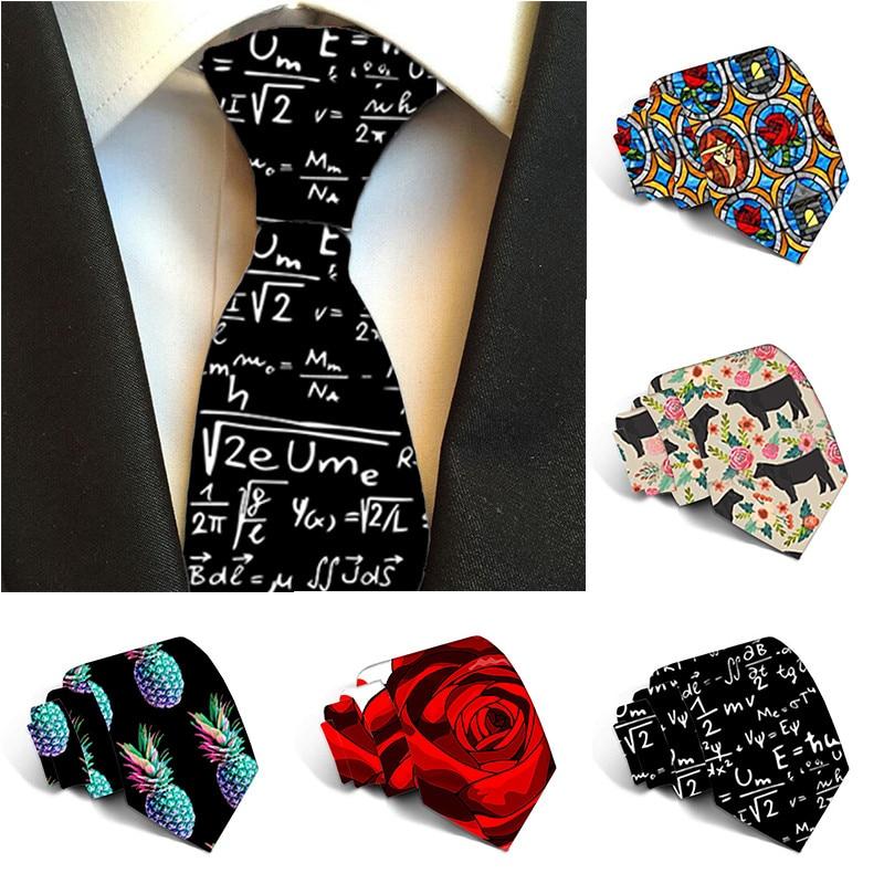 Floral Tie For Men 2019 8cm Width Polyester Necktie Man Wedding Accessories Fashion Male Printed Ties Wedding Neckties 8S-LD50