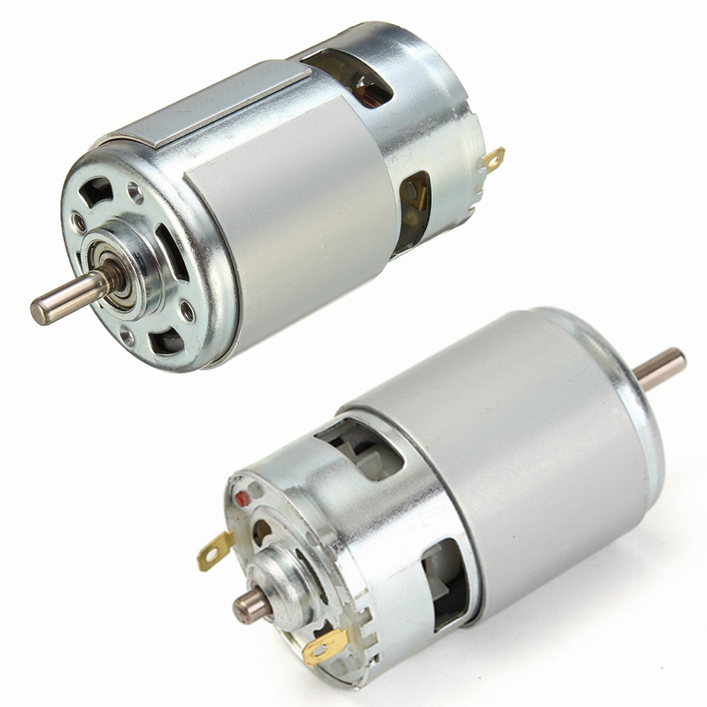 DC 12V-24V 775 DC Motor Max 35000 RPM Ball Bearing Large Torque High Power Low Noise Gear Motor Electronic Component Motor