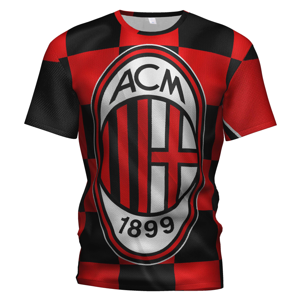 Ac Milan Soccer Jersey 2018 2019 Football 3d T Shirt Ac Milan Tracksuit Costume Ac Milan Sweatshirt Training Kit Football Tshirt