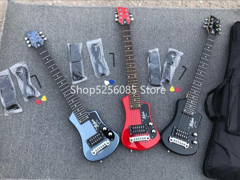 Livraison gratuite multi couleur hofner Shorty mini voyage guitare portable débutant guitare enfant guitare électrique - 2