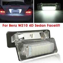 Lumière de plaque d'immatriculation 18 ° sans erreur, 2 pièces, pour Mercedes Benz W210 E300 E320 E420 W202 4D C230 C280 C43 AMG