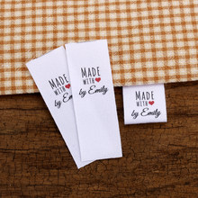 Custom Sewing label, Custom Clothing Labels - fold Tags, Cotton Ribbon, Customized with Your Business Name (MD3056)