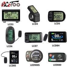RICETOO elektrikli bisiklet KT ekran LCD3/LCD3U/LCD4/LCD5/LCD6/LCD6U/LCD7U/LCD8H/LCD8S/LED880/LED900S 36V/48V/72V E-bisiklet