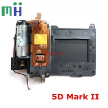 Second hand 5D2 5DII 5DM2 Shutter Unit with Blade Curtain Driver Motor For Canon 5D Mark II / 2 Camera Replacement Spare Part