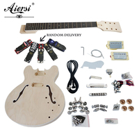 Unfinished DIY Jazz Electric Guitar Kits With All Hardwares