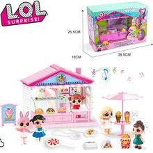 Оригинальный сюрприз ЛОЛ куклы ребенка играть дома куклы игры моделирование торт десерт мороженое автомобиль БУГАГА игрушки для девочек подарочные