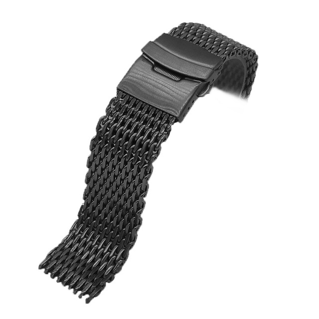 Samsung Galaxy Watch Milanese Loop Bracelet Stainless Steel Mesh Weaving 18 20 22 24mm Double Button Solid Watch Strap Band | Watchbands