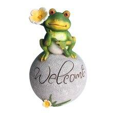 Садовая Статуэтка лягушка декоративный двор добро пожаловать
