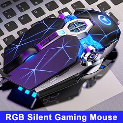 Ergonomische Wired Pro Gaming Muis 7 Button 3200 Dpi Usb Computer Muis Gamer Muizen Stille Mause Met Led Backlight Voor laptop Pc