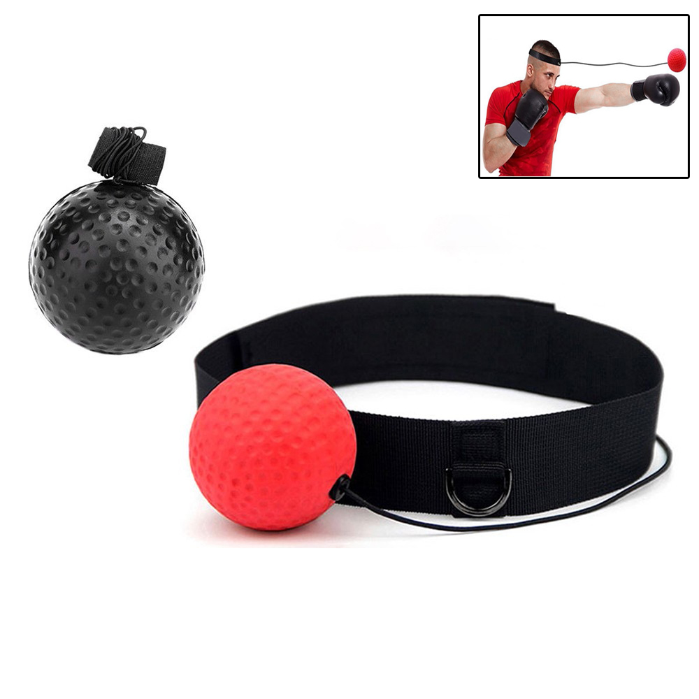 Boxing Reflex Speed Punch Ball With Head Band Exercise Equipment Punching Headband for Training
