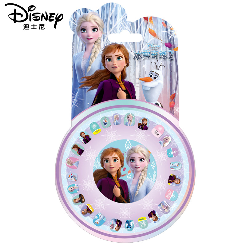 Disney reine des neiges 2 maquillage ongles autocollants ensemble Elsa Anna Sofia fille jouets pour enfants Disney Princesas autocollant filles accessoires bijoux