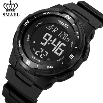 SMAEL Brand Men Outdoor Sports Watches Digital LED Military Watch Men's Electronics Fashion Casual Wristwatches Male Alarm Clock - discount item  48% OFF Men's Watches