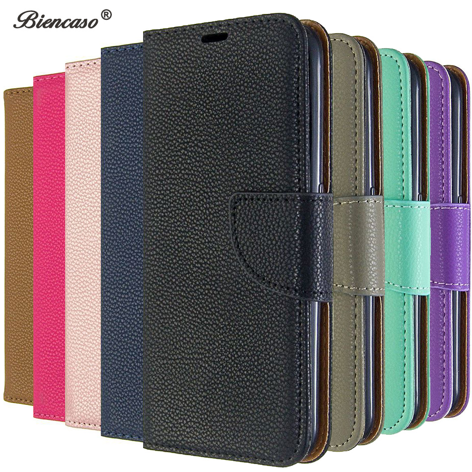 Litchi Cover For LG Stylo 5 Solid Color Card Slot Wallet Flip Cases For LG K40 K50 Q60 Back Cover For Sony Xperia 5 <font><b>8</b></font> 10 <font><b>Fundas</b></font> image