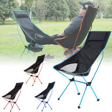 Outdoor Camping Chair Oxford Cloth Portable Folding Lengthen Camping Seat for Fishing Festival Picnic BBQ Beach Ultralight Chair cheap CN(Origin) Metal Aluminum FOLDING CHAIR Open Size 105x70x55cm Beach Chair S1018 Outdoor Furniture Modern For Home Office Hospital Director Fishing